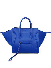 2013 Celine Luggage Phantom Square original leather Bag 3341 blue