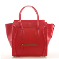 2013 Celine luggage tote boston handbag smooth calfskin 98169 big red