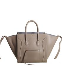 2013 Celine Luggage Phantom Square original leather Bag 3341 khaki