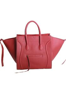 2013 Celine Luggage Phantom Square original leather Bag 3341 red