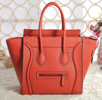 2013 Celine luggage tote original leather 3308 fluorescent orange