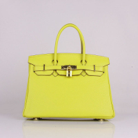 2013 Hermes birkin 30CM 6088 lemon yellow gold hardware