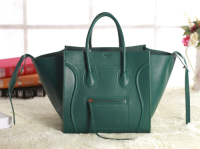 2013 Celine Luggage Phantom Square original leather Bag 3341 blackish green