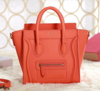 2013 Celine nano luggage tote bag original leather 3309 orange