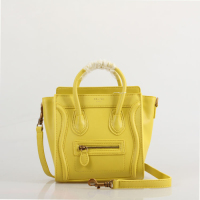 2013 Celine nano luggage tote smooth calfskin handbag 98168 yellow