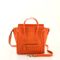 2013 Celine nano luggage tote smooth calfskin handbag 98168 orange