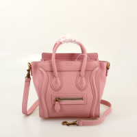 2013 Celine nano luggage tote smooth calfskin handbag 98168 pink