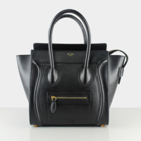 2013 celine mini luggge tote handbag 88022 black