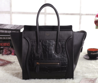 2013 Celine crocodile&original leather 3308 black
