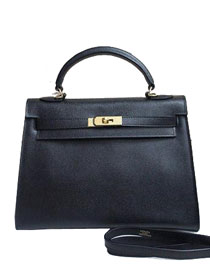 2014 hermes kelly 28cm epsom leather bag black H099