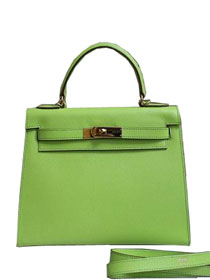 2014 hermes kelly 28cm epsom leather bag green H099