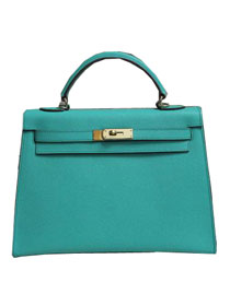2014 hermes kelly 28cm epsom leather bag lake green H099