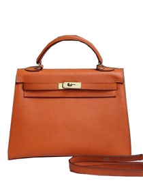 2014 hermes kelly 28cm epsom leather bag orange H099
