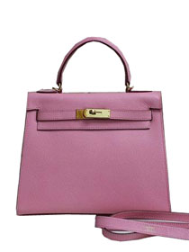 2014 hermes kelly 28cm epsom leather bag pink H099