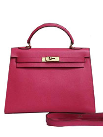 2014 hermes kelly 28cm epsom leather bag rose red H099