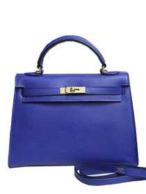 2014 hermes kelly 28cm epsom leather bag royal blue H099