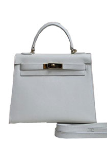 2014 hermes kelly 28cm epsom leather bag white H099