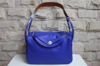 2014 Hermes togo leather lindy bag Lindy34CM blue&orange