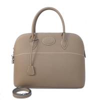 2014 Hermes Bolide Togo Leather Tote Bag 1030 Gray