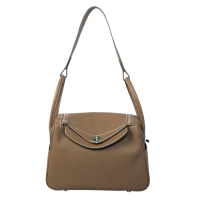2014 Hermes togo leather lindy bag Lindy30CM gray