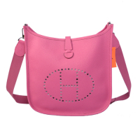 2014 Hermes Evelyne Bag A930 rose red