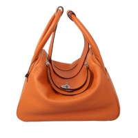 2014 Hermes togo leather lindy bag Lindy30CM orange