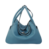 2014 Hermes togo leather lindy bag Lindy30CM middle blue
