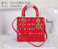2014 Dior patent leather gold chain 5432 red