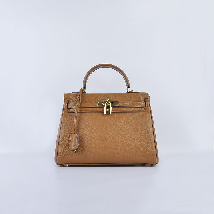 Hermes Kelly 28cm togo Leather 6608 Light Brown Gold Buckle