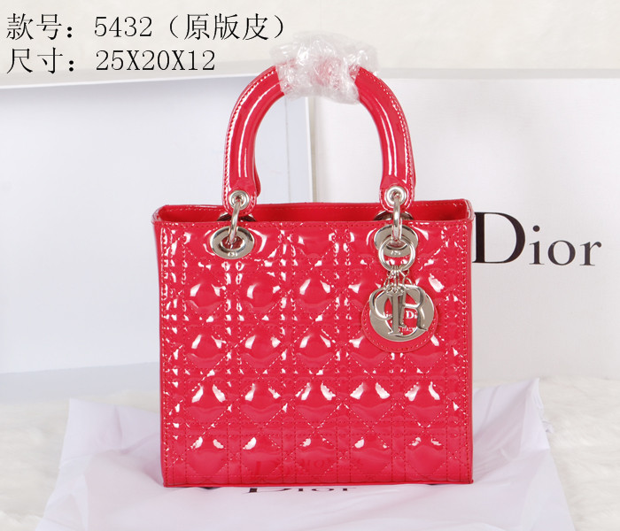 2014 Dior Original leather 5432 Red Gold Chain