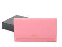 Prada calf Leather Wallet 1M1311 pink