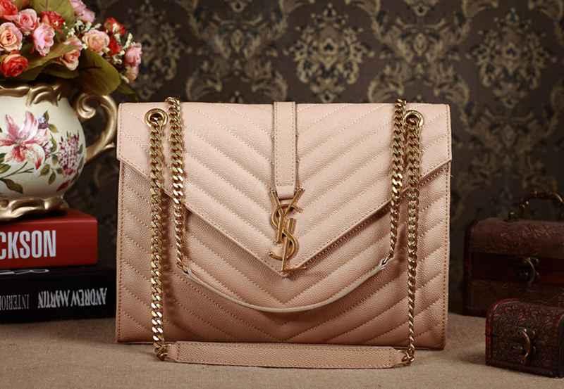 e79e66e8a836 2014 YSL Original leather 5480 apricot -  258.00