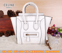 dba9dea65a54 2014 celine nano luggage tote handbag in smooth calfskin 3309 white