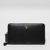 Prada Leather Wallet 1188 black