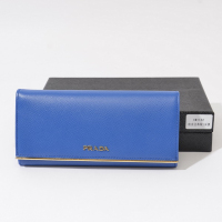 Prada calf Leather Wallet 1M1132 blue