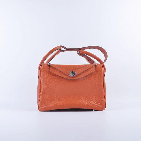 Hermes Lindy 30CM Leather Shoulder Bag 6207 orange