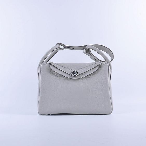 Hermes Lindy 30CM Leather Shoulder Bag 6207 gray