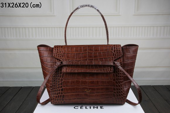 2015 Celine top quality crocodile 3368 dark coffee
