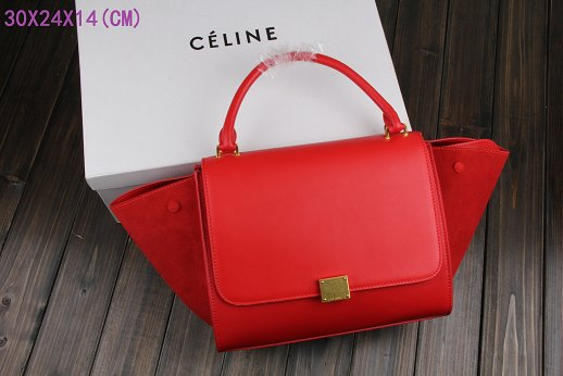 Celine Trapeze Bag Original Leather 3342-1 red
