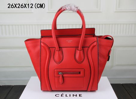 2015 Celine top quality litchi grain 3308-1 red
