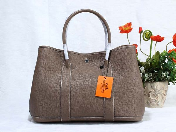 Hermes Garden Party Bag togo Leather H36 gray