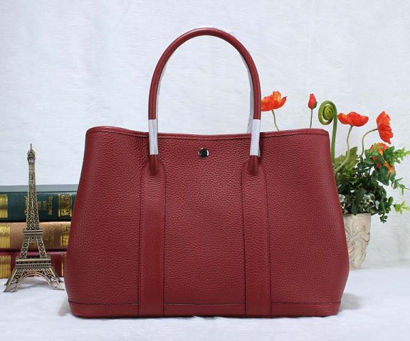 Hermes Garden Party Bag togo Leather H36 red