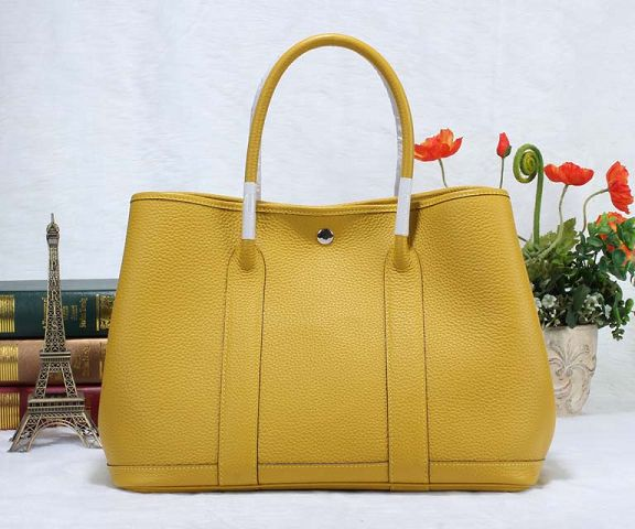 Hermes Garden Party Bag togo Leather H36 yellow