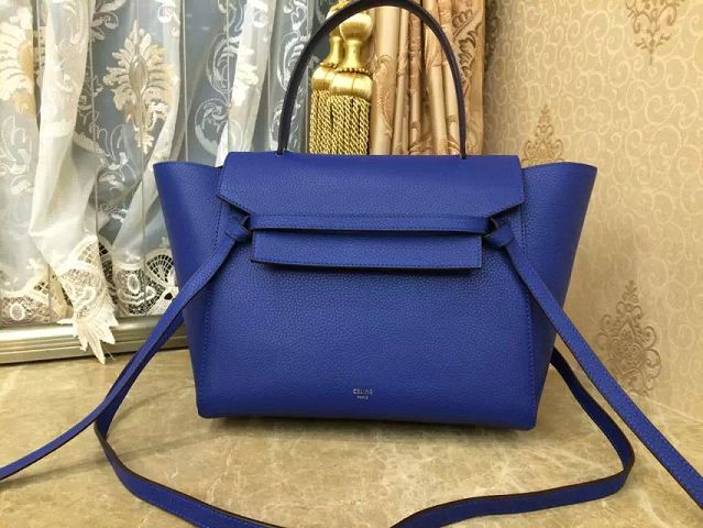 2015 Celine spring and summer top limited edition original litchi grain 3346 royal blue