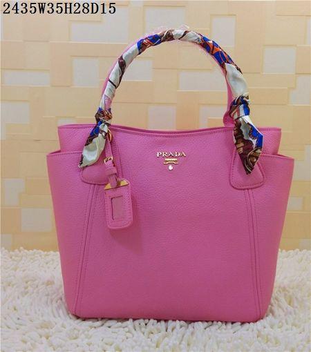 08da2e4857 2015 Prada new models shopping bag 2435 pink
