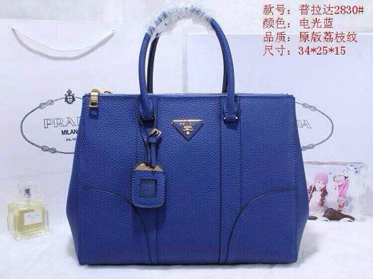 2015 Prada new model original leather 2830 blue