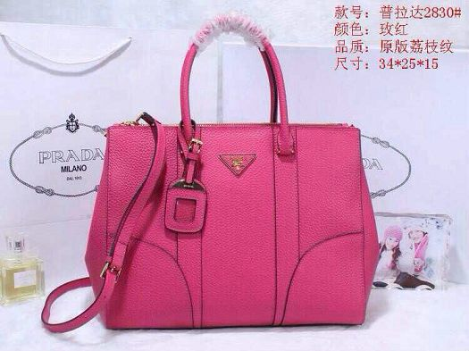2015 Prada new model original leather 2830 rose