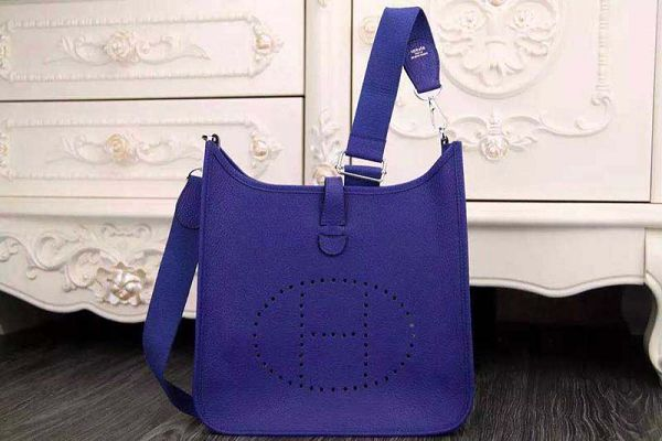 Hermes evelyne hot style original leather H1188 brilliant blue