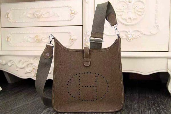 Hermes evelyne hot style original leather H1188 dark gray