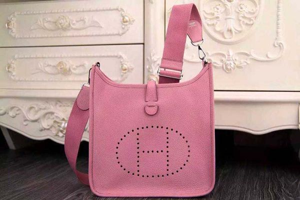 Hermes evelyne hot style original leather H1188 pink